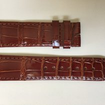 Cartier Baignoire Brillant Brown Alligator Strap 19.80 x 18.25 mm