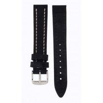 Rolex Hirsch Black Thick Calf Leather Black 18mm