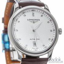 Longines Master Collection Diamond Dial Date Watch Brown...
