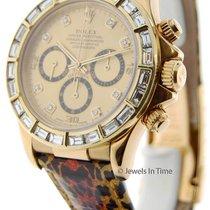 Rolex Daytona Yellow Gold Mens Automatic Watch w/ Diamonds