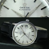 Omega Seamaster Automatic Date Steel Mens Watch Silver Dial