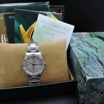 Rolex Oyster Perpetual Air King Engine Turned 14010m Stainless...