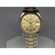 Tudor Prince Oysterdate Champagne 34mm Fluted Bezel Rolex Band