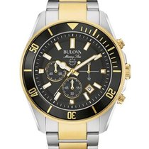 Bulova Mens Marine Star Chronograph -Two-Tone Case &...