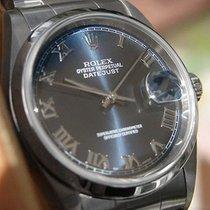 Rolex Datejust 16200 Mens Steel Oyster Bracelet 36mm Domed...