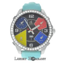 Jacob & Co. Five Time Zones 47MM Diamond Bezel Steel Quartz