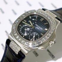 Patek Philippe Nautilus Moon Phase White Gold with Diamond...