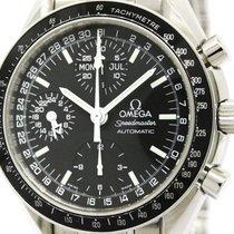 Omega Polished Omega Speedmaster Mark 40 Steel Automatic Mens...