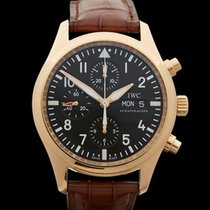 IWC Pilots Chronograph 18k Rose Gold Gents IW371713