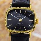 Omega Black Deville Manual Gold Plated Watch 1980's Ja41