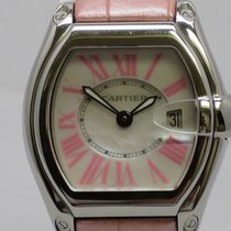 Cartier Ladies Roadster Pink Roman Numerals Mother Pearl Dial...