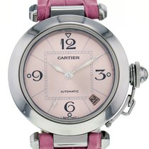 Cartier Pasha C Stainless Steel Automatic Pink Dial Women'...