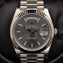 Rolex Day-Date 40 - 228239 - Dark Rhodium Stripe Motif Dial -...