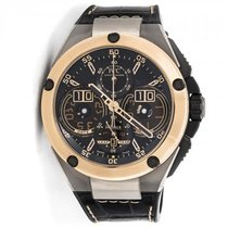 IWC Ingenieur Perpetual Calendar Black Dial Chronograph...
