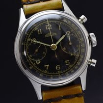 Angelus vintage chronograph gilt dial