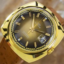 Glycine Compressor Mens Gold Plated Automatic Swiss Made Retro...