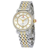 Michele CSX Elegance White Mother of Pearl Dial Two-tone Ladies
