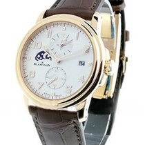 Blancpain Leman Timezone GMT & 2nd Time Zone in Rose Gold