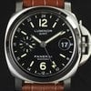 Panerai S/S Black Dial 40mm Luminor GMT PAM00244