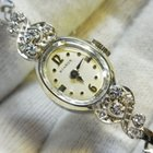Benrus Vintage Lady Benrus Diamond 14k White Gold watch