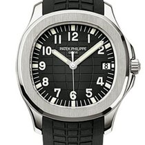 Patek Philippe Aquanaut Automatic Black Dial Stainless Steel...