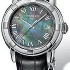 Raymond Weil Parsifal Black Mother of Pearl Dial Black Leather...