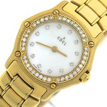 Ebel Mini 18K Yellow Gold 8057902 MOP Diamond 23mm Quartz Watch
