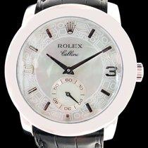 Rolex Cellini Cellinium platine et nacre