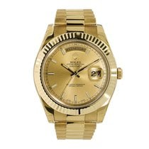 Rolex DAY-DATE II 41mm 18K Yellow Gold Champagne Dial 2015