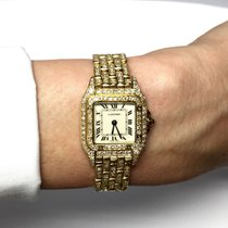Cartier Panthére 18k Yellow Gold Ladies Watch W Diamonds Gift...