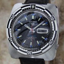 Seiko 5 Sports Mens 41mm Vintage 1970 Stainless St Made in...