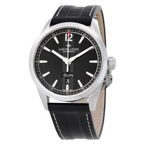 Hamilton Broadway Day Date Automatic Black Dial Mens Watch...