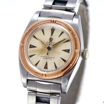 Rolex Vintage Oyster Bubble-Back Ref-3372 Stainless Steel 18k...
