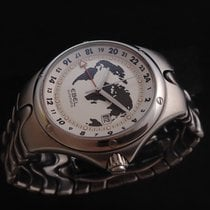 Ebel Stainless Steel Voyager GMT Watch