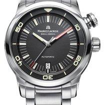 Maurice Lacroix Pontos S Diver, Date, Steel Bracelet