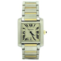 Cartier Tank Francaise 18ct Yellow Gold and Steel Guilloche...