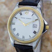 Charles Jourdan Mens Swiss Made Gold Plated Stainless S Quartz...