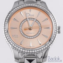 Dior VIII Montaigne Diamond Bezel Pink Lacquered Dial 32mm...