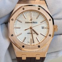 Audemars Piguet Royal Oak 41 silver dial in rose gold with...