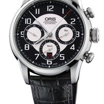 Oris Raid Black and silver Dial Automatic Black Leather...