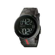 Gucci Men's YA114207 I-Gucci Digital Black Green Red Strap...