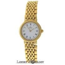 Omega Authentic Ladies  Deville 18K Yellow Gold Plated SS