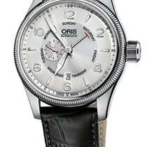 Oris Big Crown Small Second, Pointer Day, Silver, Black