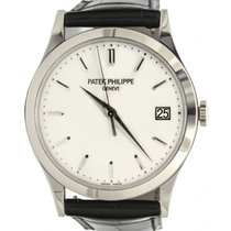 Patek Philippe 5296G-010 Calatrava 38mm White Opaline Index...
