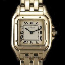 Cartier 18k Yellow Gold Silver Dial Panthere Ladies Wristwatch...