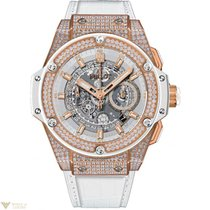 Hublot King Power Unico King Gold White Pave Men's