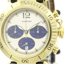 Cartier Polished Cartier Pasha 38 Chronograph 18k Solid Gold...