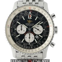 Breitling Navitimer Chronograph Steel Black Dial 50th Annivers...