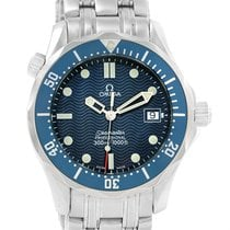 Omega Seamaster Blue Dial Steel Midsize Watch 2561.80.00 Box...