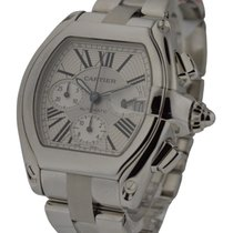 Cartier W62019X6 Roadster Chronograph in Steel - On Bracelet...